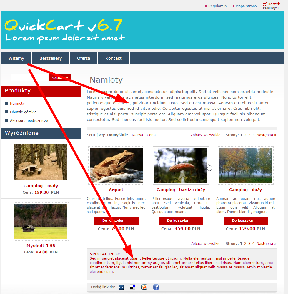 Krótki Opis Pełny Opis Opis Specjalny W Quickcartext